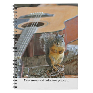 Squirrel with Guitar Spiral Notebook