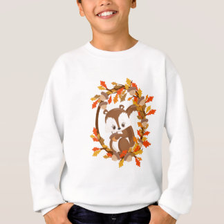 Squirrel  with nuts WOODLAND CRITTERS- wreath Sweatshirt