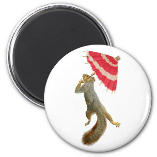 Squirrel with Parasol Magnet