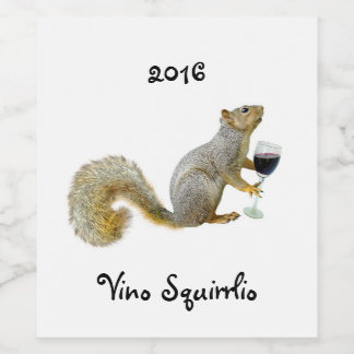 Squirrel with Wine Wine Labels