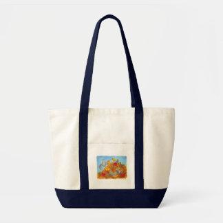 Squirrels Autumn Leaves & Acorns Bag