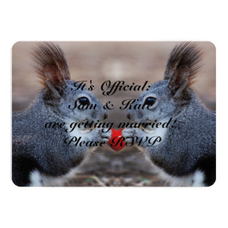 Squirrels In Love Cute Wedding Invitation