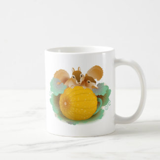 squirrels in the pumpkin patch classic white coffee mug