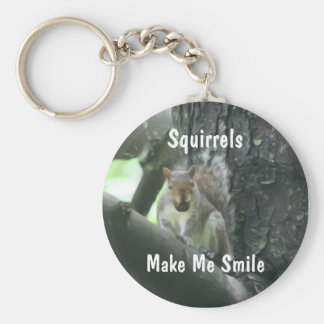 Squirrels Make Me Smile Animal Keychain