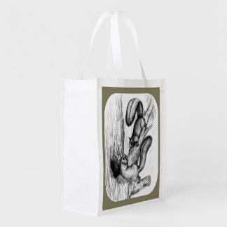 Squirrels Reusable Grocery Bag