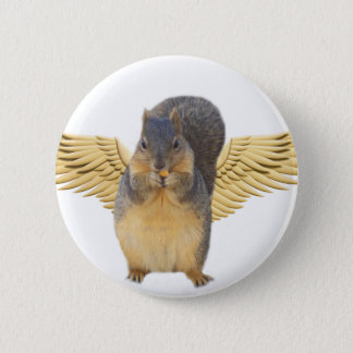 Squirrels with wings_Button 2 Inch Round Button