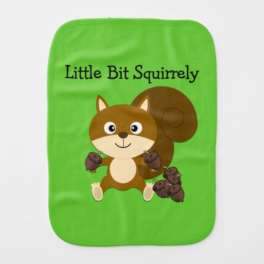 Squirrely Burp Cloth