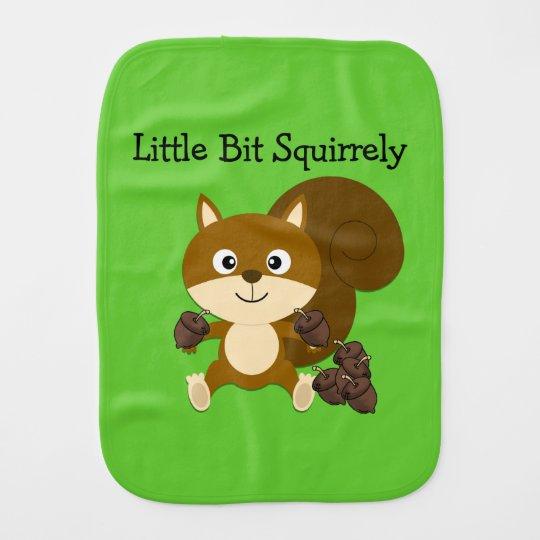 Squirrely Burp Cloths