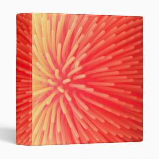 Squishy Ball Toy Abstract Red Orange Glow Binder