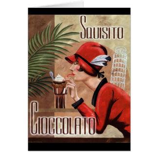 Squisito Cioccolato Italian Chocolate Woman in Red Card