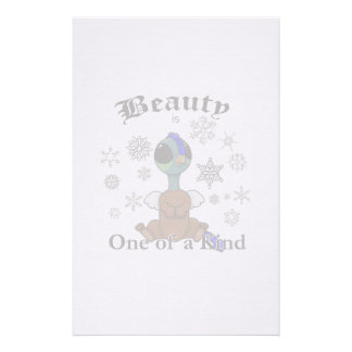 Squite Beauty is one of a kind with snowflakes Stationery Design