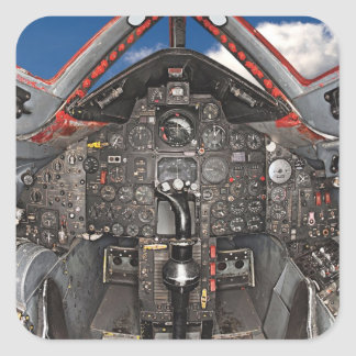 SR71 Blackbird Aircraft Cockpit Square Sticker