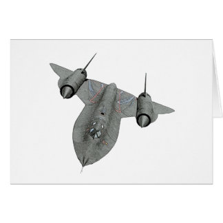 SR71 Blackbird Illustration Note Card
