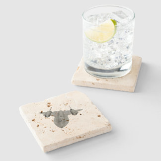 SR71 Blackbird Stone Beverage Coaster