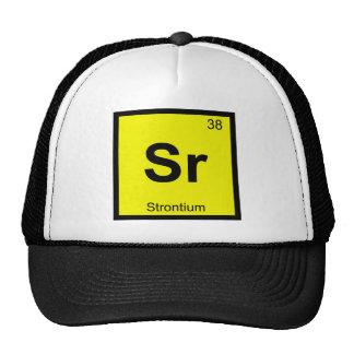 Sr - Strontium Chemistry Periodic Table Symbol Trucker Hat