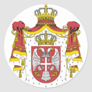 Srbija Grb -  Veliki / Serbian Coat of Arms - Big Classic Round Sticker