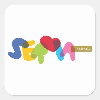 Srbija, Serbia Square Sticker