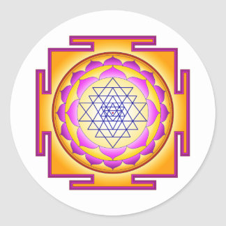 Sri Chakra Goddess Shri Lalitha Tripura Sundari Classic Round Sticker