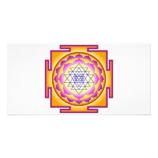 Sri Chakra Goddess Shri Lalitha Tripura Sundari Customized Photo Card