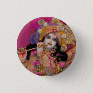 Sri-Krsna Pink Mini Button