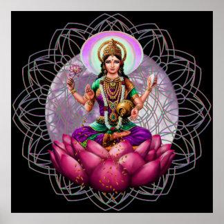 Sri Lakshmi / Laxmi Divine Large poster print