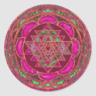 Sri Lakshmi Yantra Mandala Classic Round Sticker