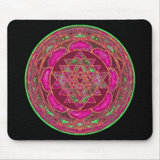 Sri Lakshmi Yantra Mandala Mouse Pad