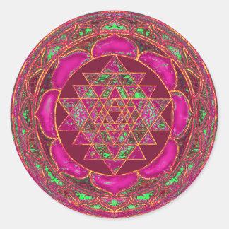 Sri Lakshmi Yantra Mandala Round Sticker