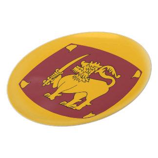 Sri Langka Sri Langkan Flag Plate
