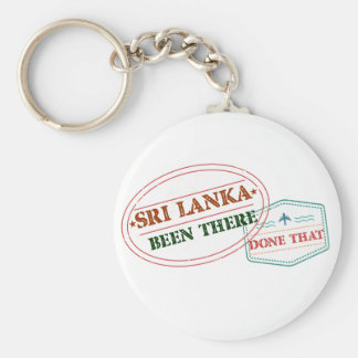 Sri Lanka Been There Done That Basic Round Button Keychain