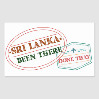 Sri Lanka Been There Done That Sticker