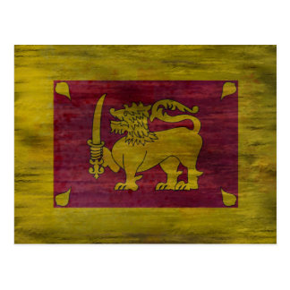 Sri Lanka distressed Sri Lankan flag Postcard