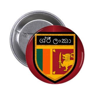 Sri Lanka Flag 2 Inch Round Button