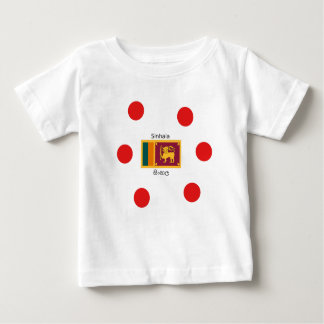 Sri Lanka Flag And Sinhala Language Design Baby T-Shirt