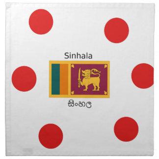 Sri Lanka Flag And Sinhala Language Design Napkin