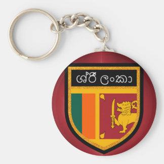 Sri Lanka Flag Basic Round Button Keychain