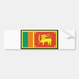 Sri Lanka Flag Bumper Sticker