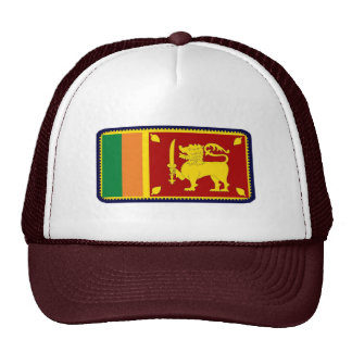Sri Lanka flag embroidered effect hat