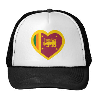 Sri Lanka Flag Heart Trucker Hat