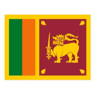 Sri Lanka Flag Postcard