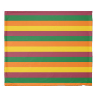 Sri Lanka flag stripes lines colors pattern Duvet Cover