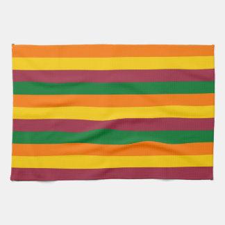 Sri Lanka flag stripes lines colors pattern Kitchen Towel