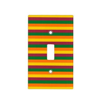 Sri Lanka flag stripes lines colors pattern Light Switch Cover