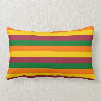 Sri Lanka flag stripes lines colors pattern Lumbar Pillow