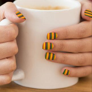 Sri Lanka flag stripes lines colors pattern Minx Nail Art