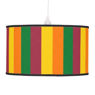 Sri Lanka flag stripes lines colors pattern Pendant Lamp