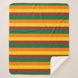 Sri Lanka flag stripes lines colors pattern Sherpa Blanket