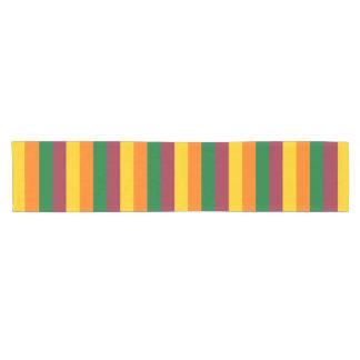 Sri Lanka flag stripes lines colors pattern Short Table Runner