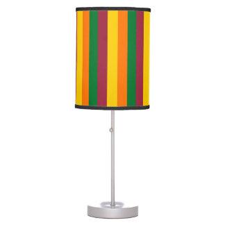 Sri Lanka flag stripes lines colors pattern Table Lamp