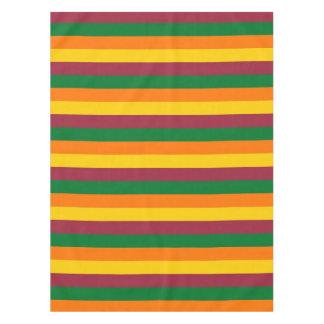 Sri Lanka flag stripes lines colors pattern Tablecloth